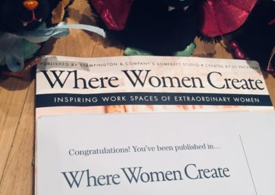Flappy & the Fangs with their copy of Where Women Create Magazine